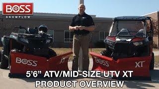 "5'6"" ATV/Mid-Size UTV XT Product Overview  BOSS Snowplow  "