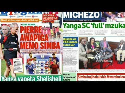 MICHEZO Magazetini Jumanne20/2/2018:Simba kamili Djibouti leo