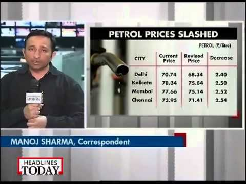 Petrol price cut by Rs 2 per litre
