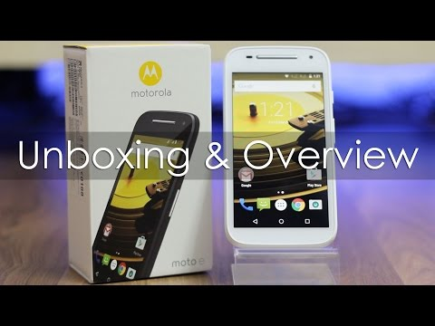 Moto E 2nd Gen (2015 Model) Unboxing & Hands On Overview