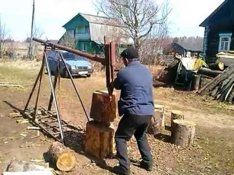 Механический дровокол своими руками фото