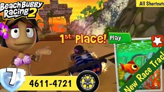 Beach Buggy Racing 2 | Leilani 1st Place in New Race Track Aquarius (All Secret Driving)