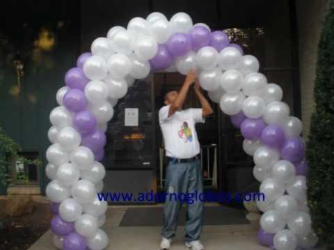 Decoracion con globos para boda - YouTube