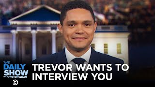 Trevor Noah Invites You (and Donald Trump) to The Daily Show // Omaze