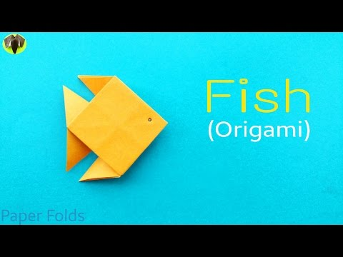 "How to make an easy Paper ""Fish"" - Origami Tutorial."
