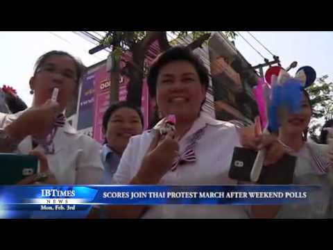 Scores Join Thai Protest Leader March After Weekend Polls