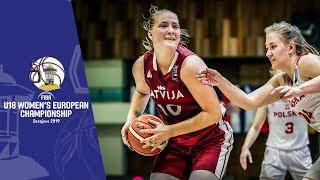 Poland v Latvia - Full Game - FIBA U18 Women's European Championship 2019