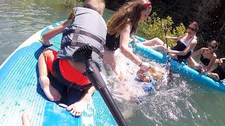 😱 BABY FALLS INTO FREEZING COLD LAKE AND IS SAVED BY BIG SISTER! 🛶