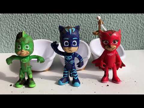Pj Masks Wrong Heads Toys - Learn Colors with colorful Beads Surprise Pj Masks Toys