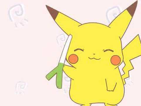 Adorable Pikachu Video #3: Pikachu's Leekspin Video