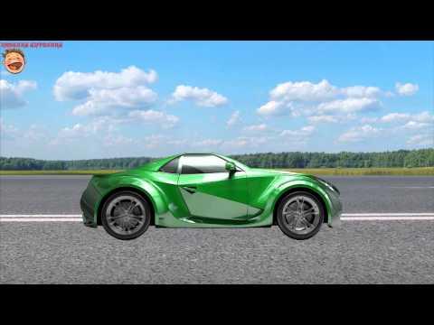Машинки. Зеленая гоночная машина. МУЛЬТИК-Конструктор для детей