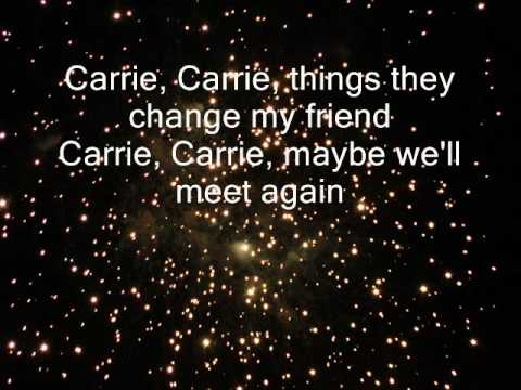 Carrie - Europe. ( Lyrics on screen )
