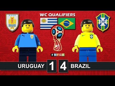 Uruguay - Brazil 1-4 • World Cup Russia 2018 Qualifiers (24/03/2017) goal Lego Football CBF