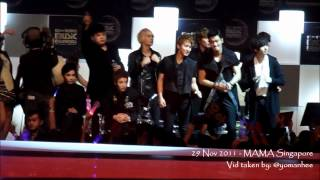 [HD Fancam] 111129 MAMA SG - Where is the Love (SJ focus)