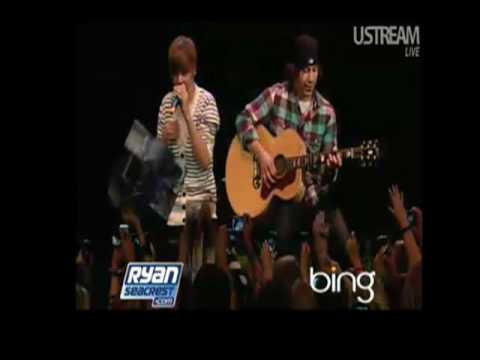 justin bieber baby video clip. Justin Bieber quot;Babyquot; Live Ryan