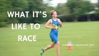 What it's like to race | Cambridge Aquathlon