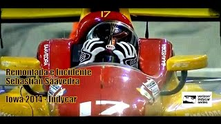 Indycar 2014 Iowa - Remontada e incidente Saavedra