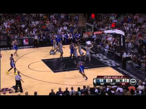 Klay Thompson 29pts in the 1st half vs San Antonio Spurs in game 2, 5-8-13