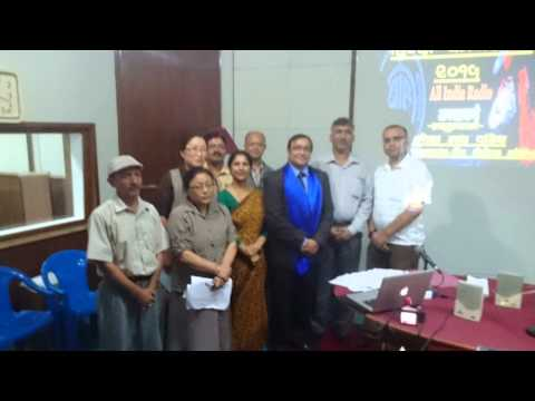 Hindi workshop conducted by Trilok Nath Pandey for All India Radio