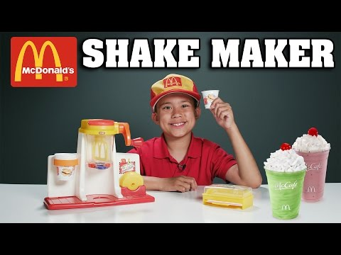 McDonald's SHAKE MAKER!!! Gross Cooking with Evan - Vintage Toy Review!
