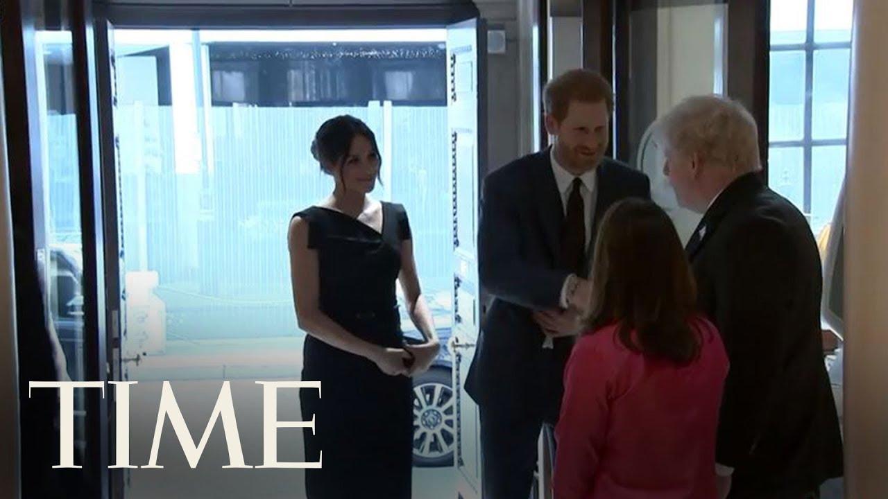 Meghan Markle Wears Celeb Favorite Black Halo Jackie O Dress | TIME
