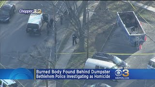 Burned Body Found Behind Dumpster In Bethlehem