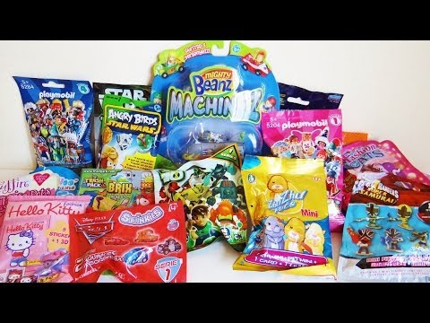 17 Blind Packs Ben 10, Mighty Beanz, Cars 2, Power Rangers, Angry Birds, TMNT, Lalaloopsy