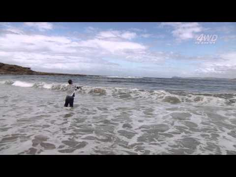 Beach fishing with metal lures