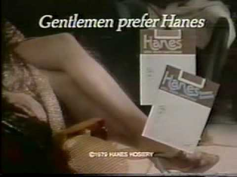 VINTAGE 70'S OR 80'S GENTLEMEN PREFER HANES PANTYHOSE COMMERCIAL