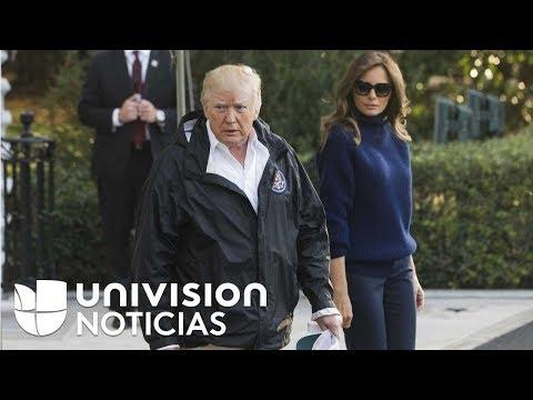 El presidente Donald Trump llega a Puerto Rico tras dos semanas del paso del huracán María