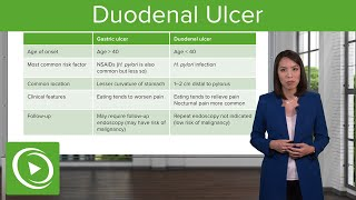 Duodenal Ulcer with Case – Disorders of the Small and Large Intestines| Lecturio