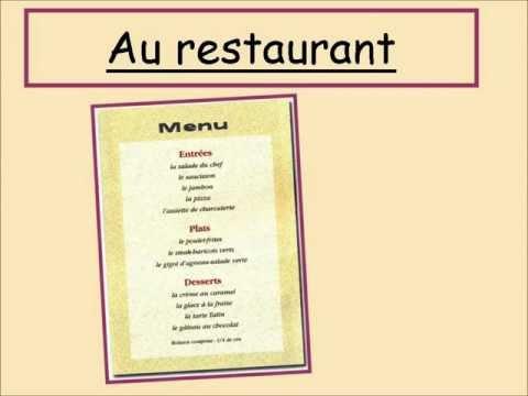 Au restaurant ytb lessonpaths for Menu frances tipico
