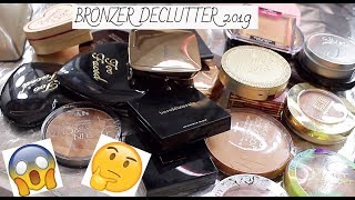BRONZERS DECLUTTER 2019 | Makeup Collection | AmberElainexox