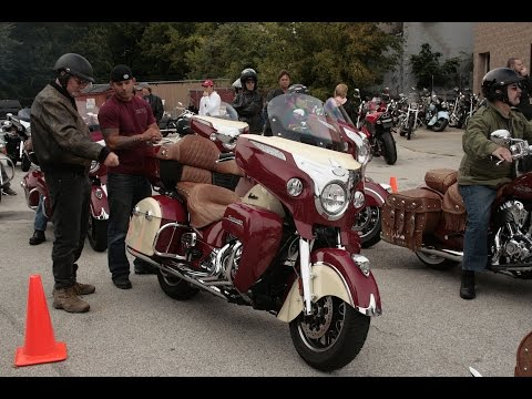 Test driving the Indian Road Master