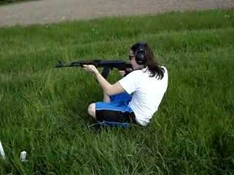 Shooting an AK-47 Video