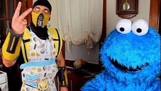 Scorpion & Cookie Monster make Cookies! (Cooking With Scorpion #4)