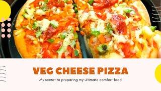 EASY SIMPLE PIZZA RECIPE/VEG CHEESE PIZZA RECIPE