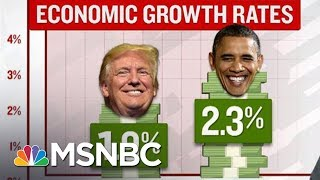 "For Fakes Sake: Trump's ""Unprecedented"" Economic Growth? | Velshi & Ruhle | MSNBC"
