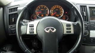 2007 Infiniti FX35. Overview of the interior.