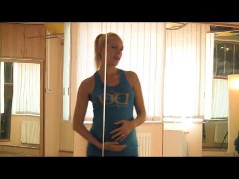 Bachata lassú zenére. Kismama tánc - Pregnant Dance Baranyi Anett&Letti