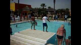 аква эробика+клубные танцы у басейна 23.09.2014(отель Caribbean World Monastir 4* )