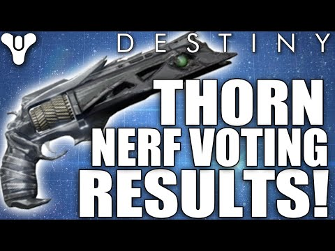 Destiny Thorn Nerf Voting Results Update 11000