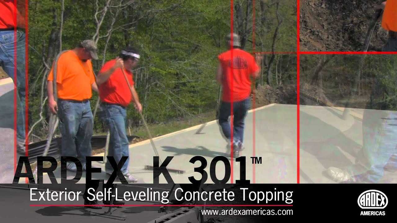 Ardex K 301 Exterior Self Leveling Concrete Topping Demonstration Youtube