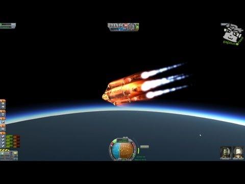 ПЕРВЫЙ ПОЛЕТ НА ЛУНУ (Kerbal Space Program)
