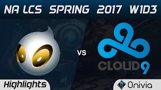DIG vs C9 Highlights Game 3 NA LCS Spring 2017 W1D3 Dignitas vs Cloud9