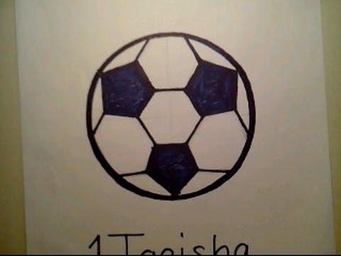 Видео как нарисовать футбольный мяч