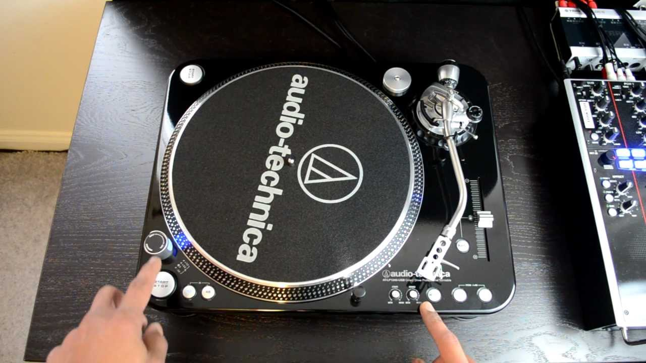 Audio Technica At Lp1240 Usb Professional Dj Turntable