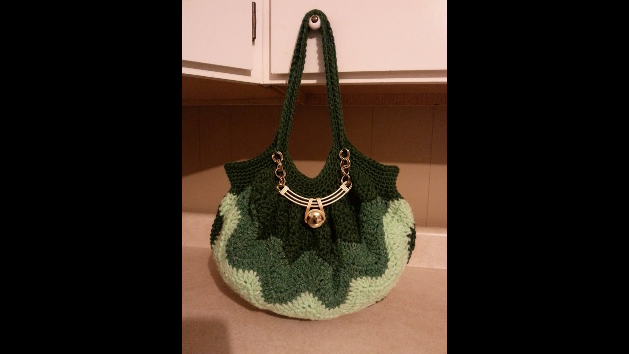 Crochet Chevron Purse tutorial DIY handbag Learn crochet - YouTube