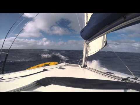 Lagoon 440 Sailing FORCE 8 Winds