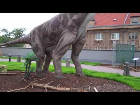 Brachiosaurus Dinosaur Herbivore with Claws-Dino Park Praha-Czech